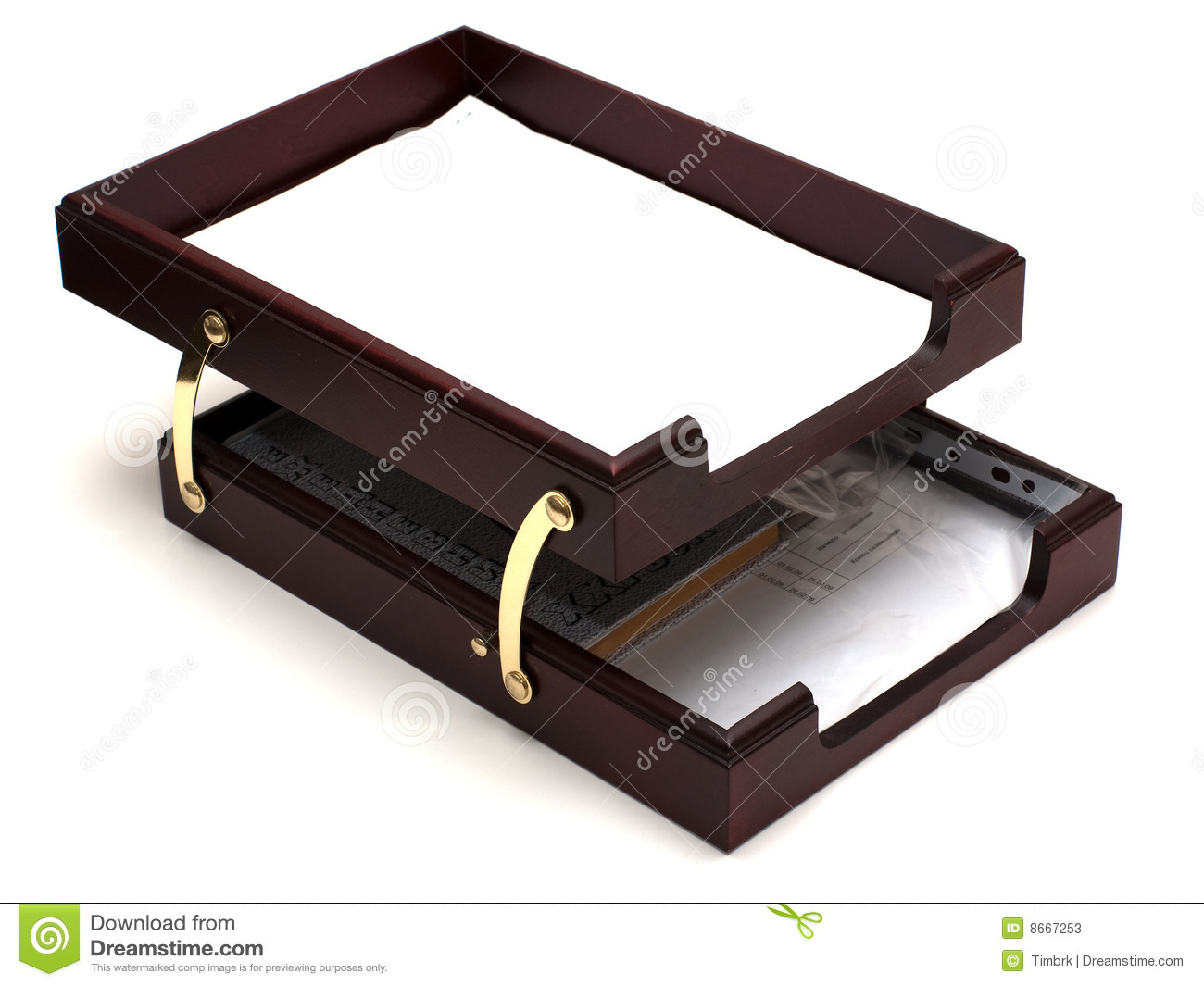 Wooden Paper Tray Stock Photos   Image  8667253