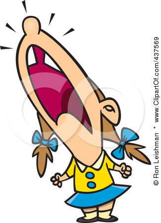 437569 Royalty Free Rf Clip Art Illustration Of A Cartoon Crying Girl