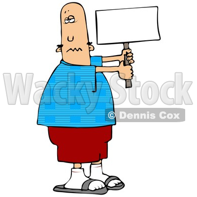 Aquifer Clipart 556877 A Blank White Sign By Dennis Cox At Wackystock