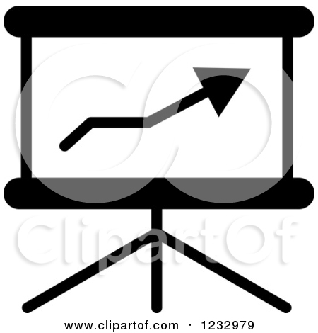 Black And White Chart Business Icon