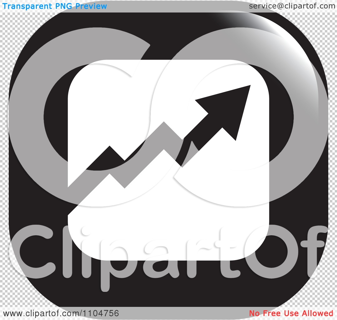 Clipart Black And White Business Statistics Chart Arrow Graph Icon