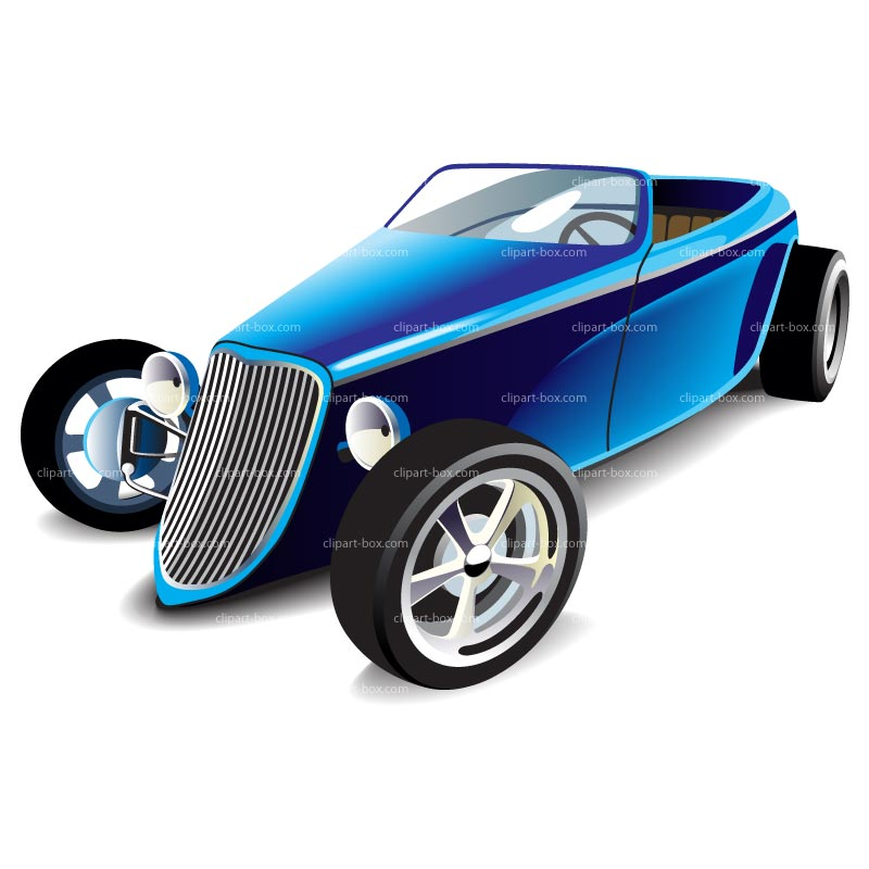 Clipart Blue Hot Rod   Royalty Free Vector Design