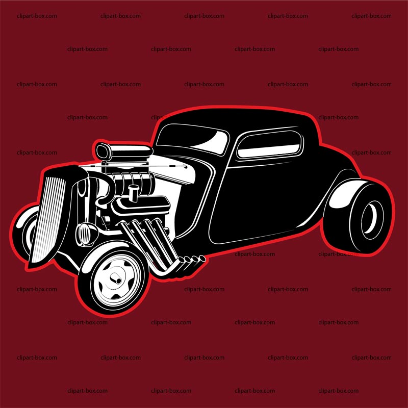 Clipart Hot Rod Icon   Royalty Free Vector Design