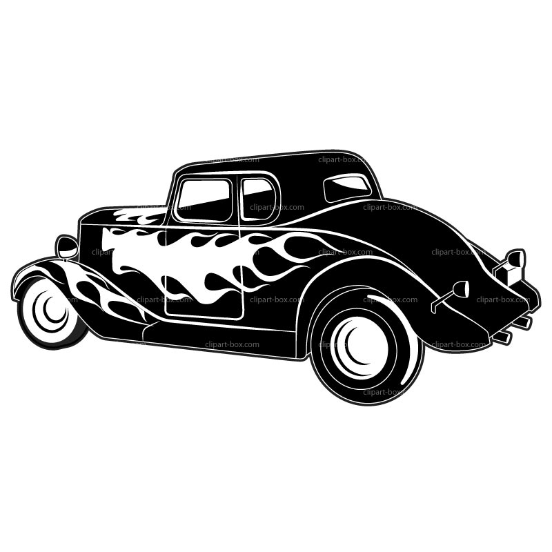 Clipart Hot Rod   Royalty Free Vector Design