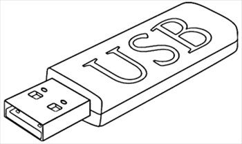 Free Usb Stick Outline Clipart   Free Clipart Graphics Images And