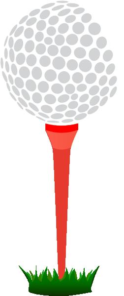 Golf Ball On Tee Clip Art Red Golf Tee Hi Png #USiqTx - Clipart Kid