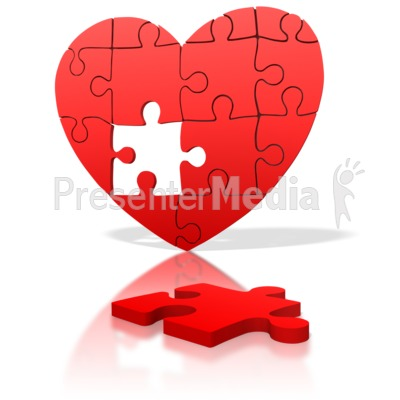 Heart Puzzle Piece Missing   Medical And Health   Great Clipart For