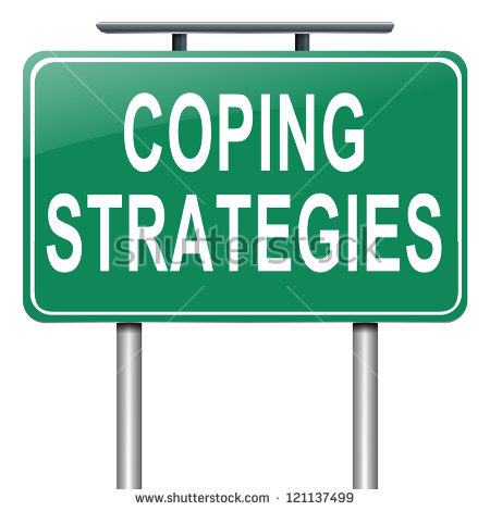 Illustration Depicting A Roadsign With A Coping Strategies Concept