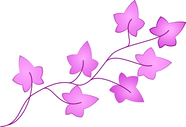 Ivy Purple Clip Art At Clker Com   Vector Clip Art Online Royalty