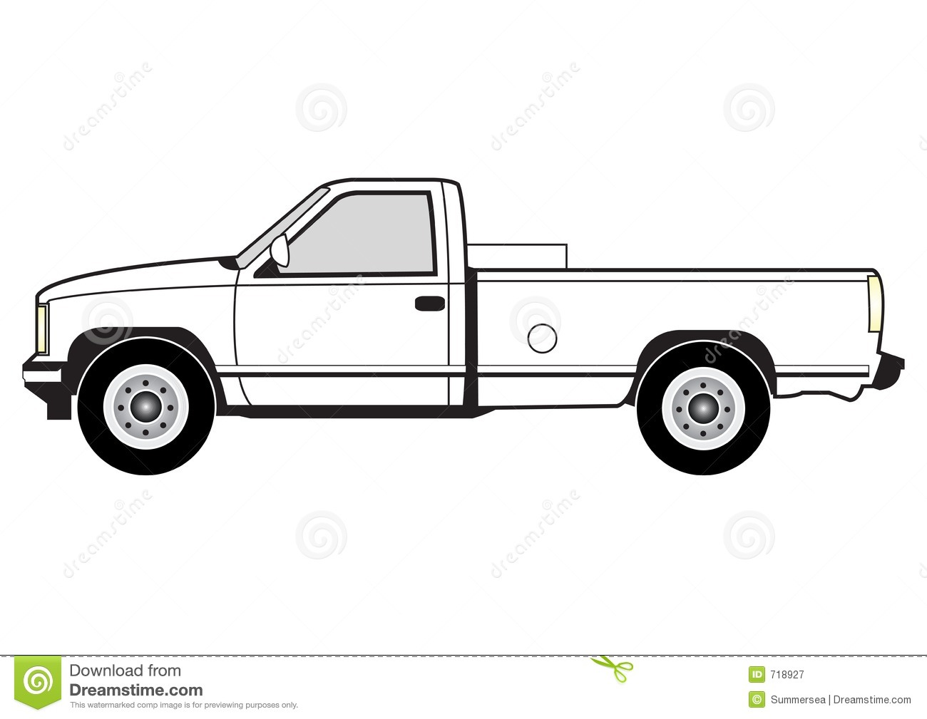 Pick Up Truck Black And White Clipart - Clipart Kid