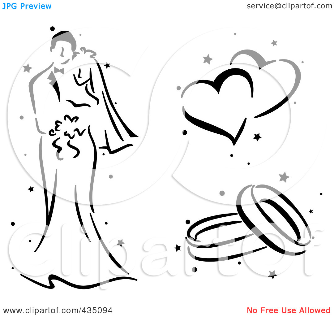 Clip Art Black And White Engagement Clipart - Clipart Kid