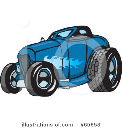 Royalty Free  Rf  Hot Rod Clipart Illustration  65653 By Dennis Holmes