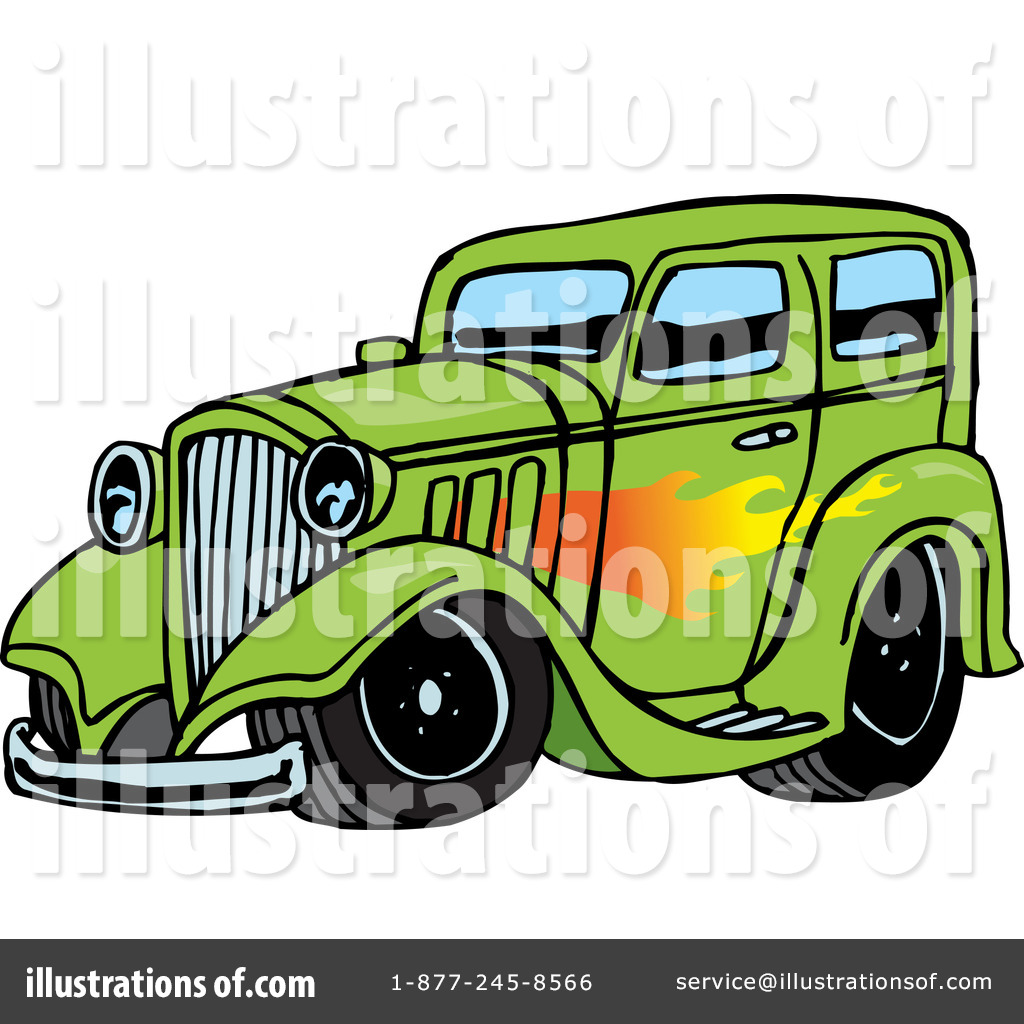 Royalty Free  Rf  Hot Rod Clipart Illustration  65657 By Dennis Holmes