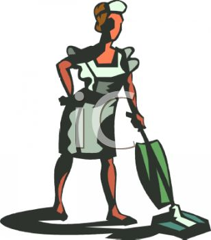 Servant Clipart 0511 1001 1122 5774 Maid Vacuuming The Floor Clipart