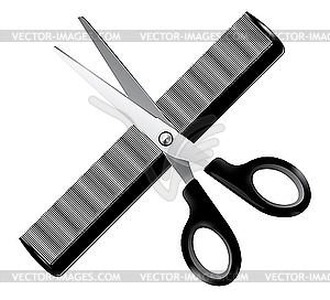 Barber Tools     White   Black Vector Clipart