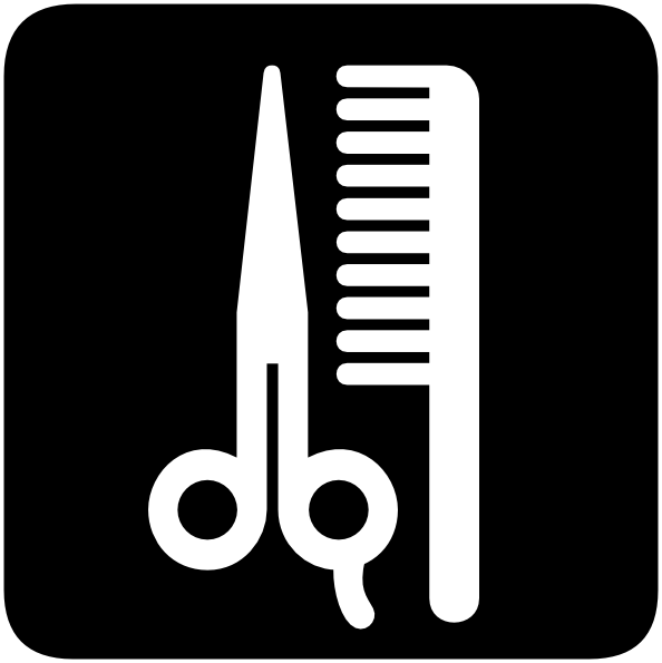 Barbershop Beauty Salon Symbol Clip Art At Clker Com   Vector Clip Art