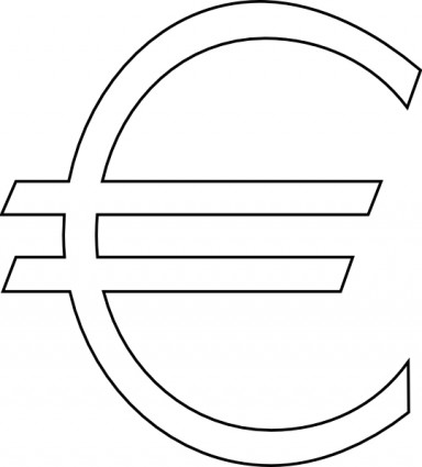 Euro Sign Outline Clip Art Free Vector In Open Office Drawing Svg
