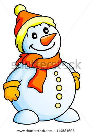 Funny Snowman Cartoon Clipart - Clipart Kid