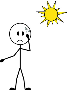 Hot Cartoon Clipart Image   Cartoon Stick Figure Sweating In The Hot
