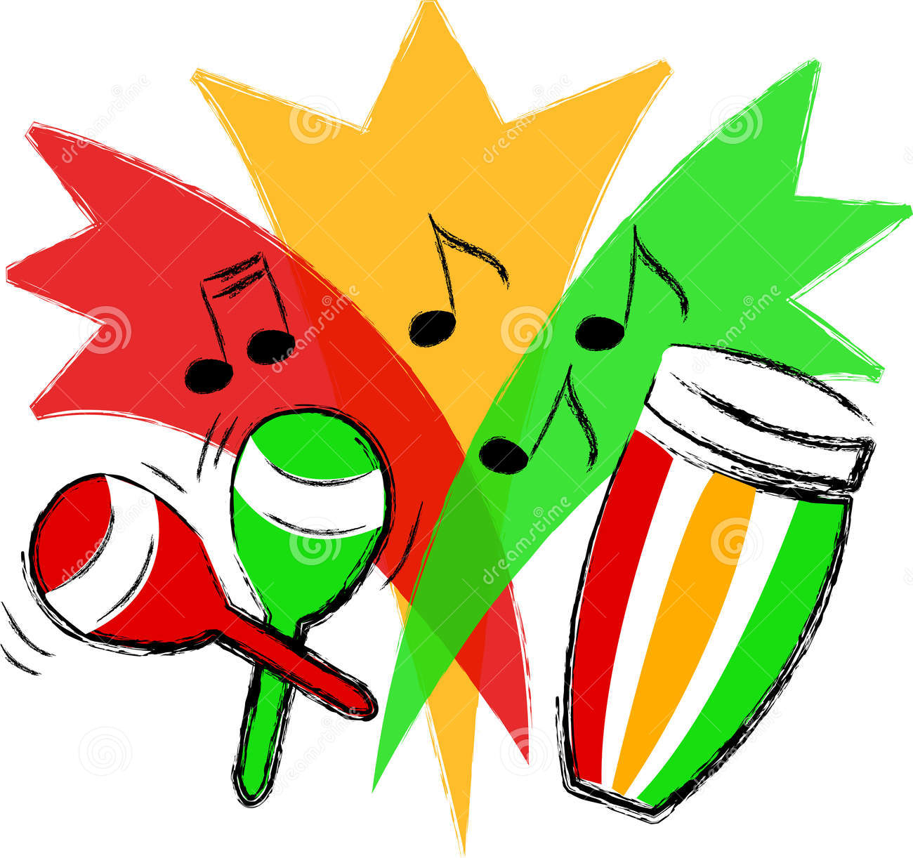 Maracas Clipart A Conga Drum And Maracas