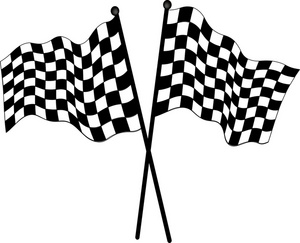 On Checkered Flag Clip Art Image Checkered Flags Used In Auto Racing