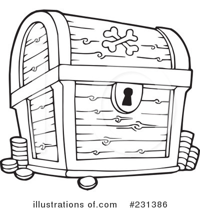 Royalty Free  Rf  Treasure Chest Clipart Illustration By Visekart