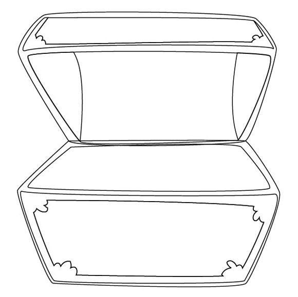 Treasure Box Clipart Black And White Outline Of Treasure Chest