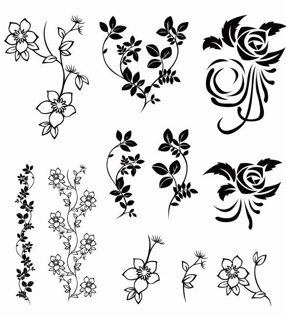 Vector Floral Pack   Free Vector Graphics   All Free Web Resources For