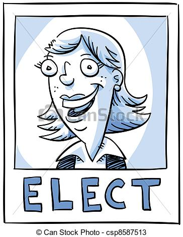 Woman Candidate Smiling On An Election    Csp8587513   Search Clipart