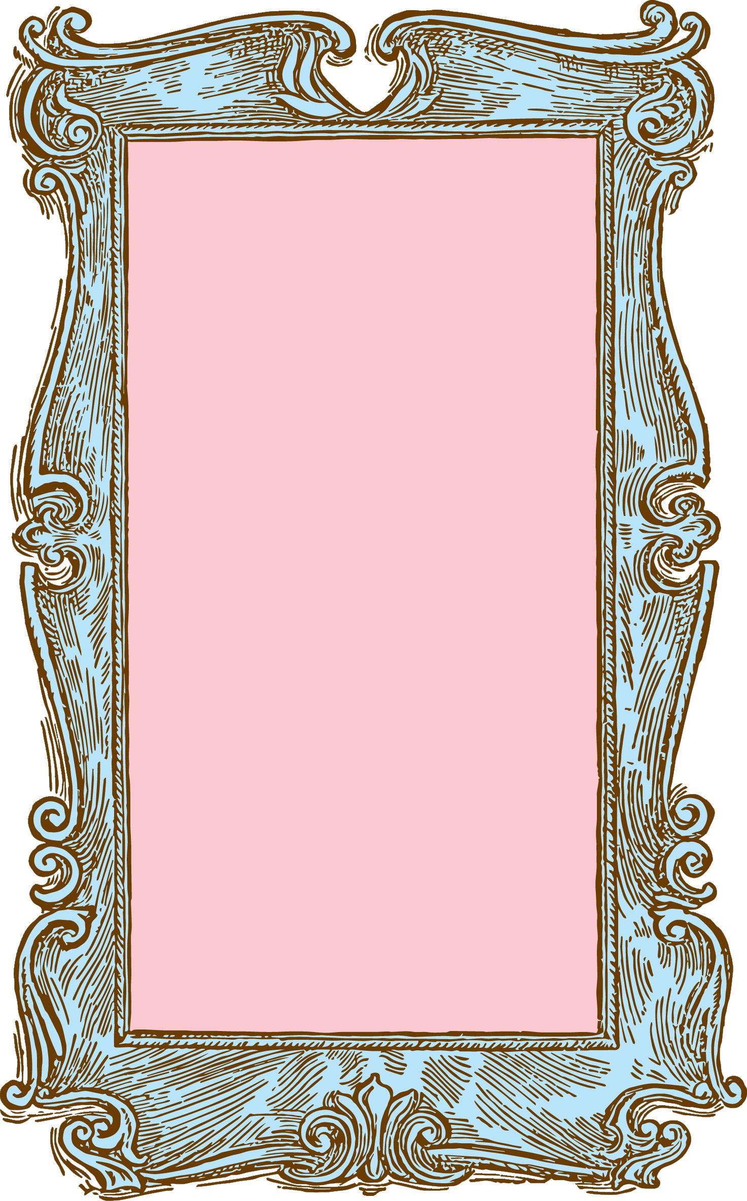 pink vintage frame clipart   clipart suggest