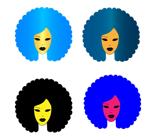 Afro Hair Vector Afro Pick Clipart - Cl...