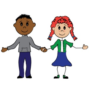 Boy And Girl Clip Art Images Boy And Girl Stock Photos   Clipart Boy