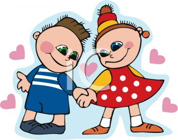 Boy And Girl Holding Hands Clip Art   Royalty Free Clipart