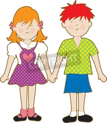Boy And Girl Holding Hands Clipart