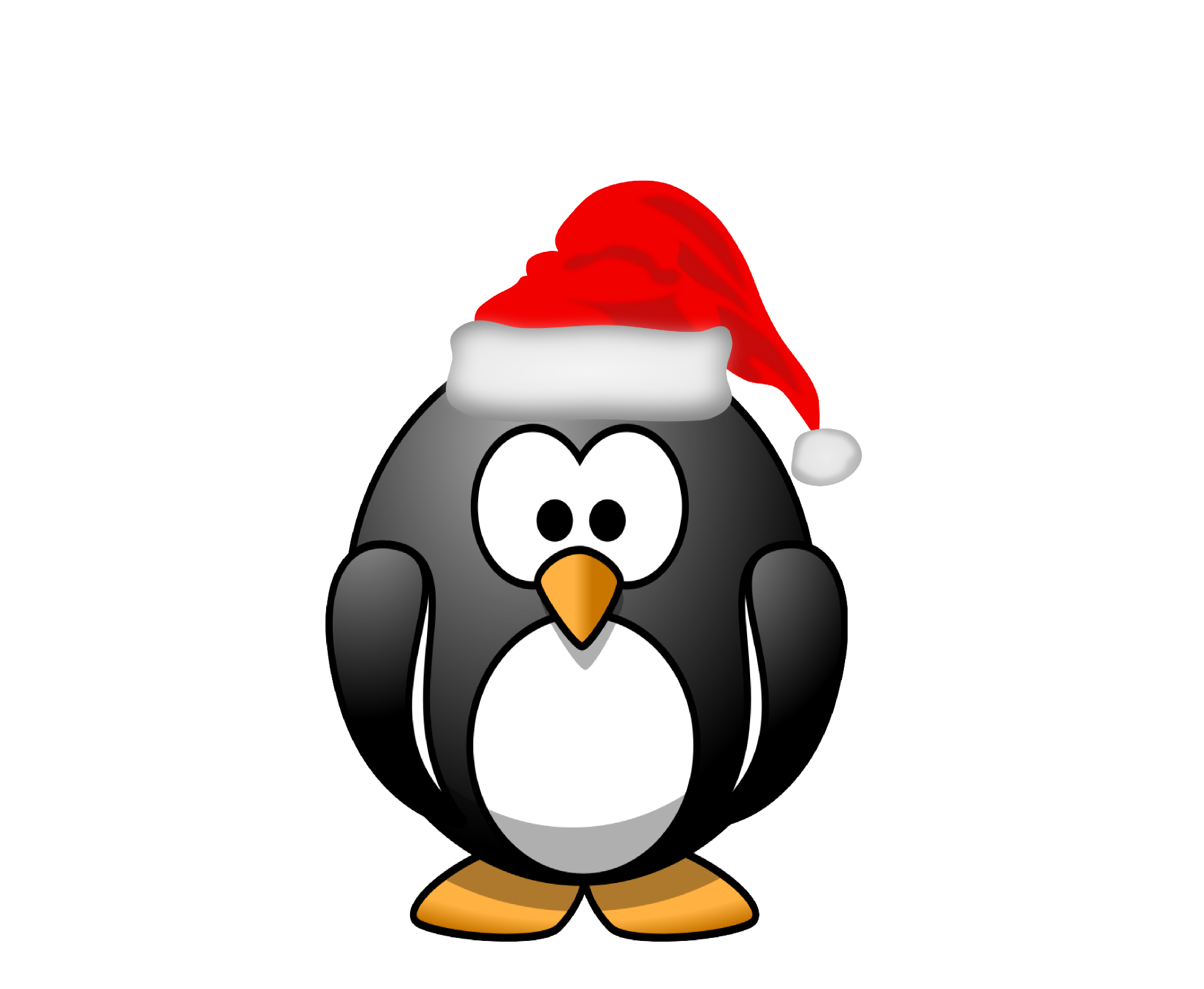 Christmas Penguin Clipart Black And White   Clipart Panda   Free