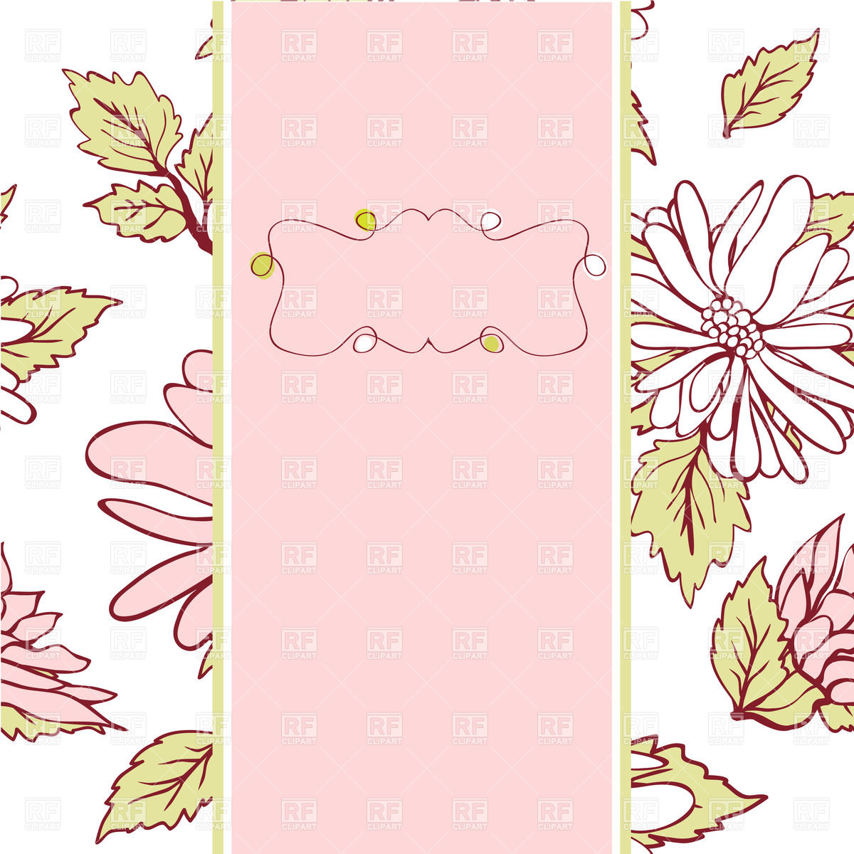 Clipart Catalog Borders And Frames Vintage Pink Vector Frame On Floral