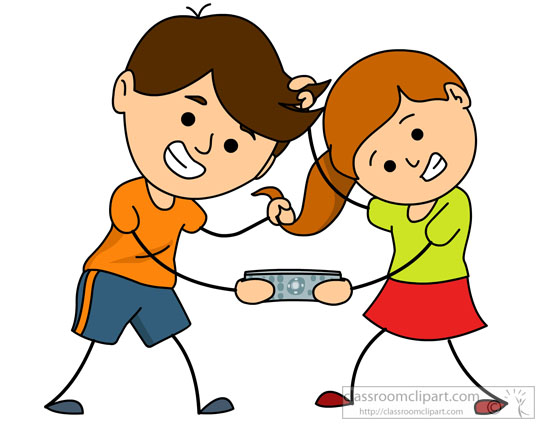 Clip Art Sister Clipart brother and sister clipart kid family fighting for remote classroom clipart