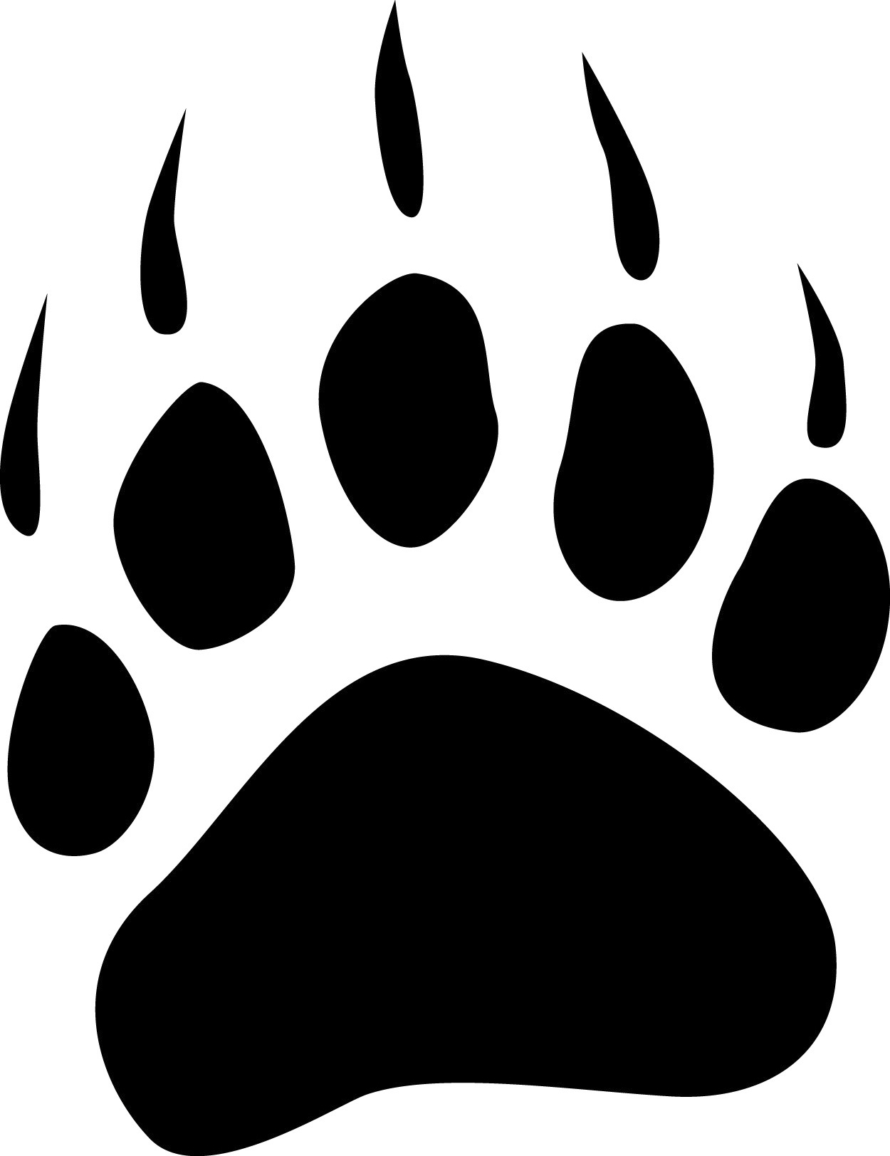 Logo Black And White Paw Print Circle   Quoteko