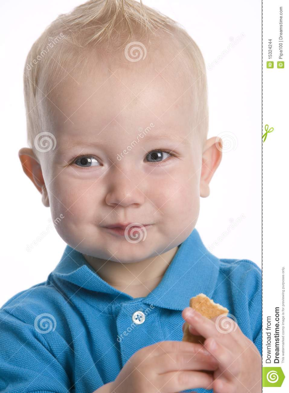 More Similar Stock Images Of   Toddler Boy Eating Cookie