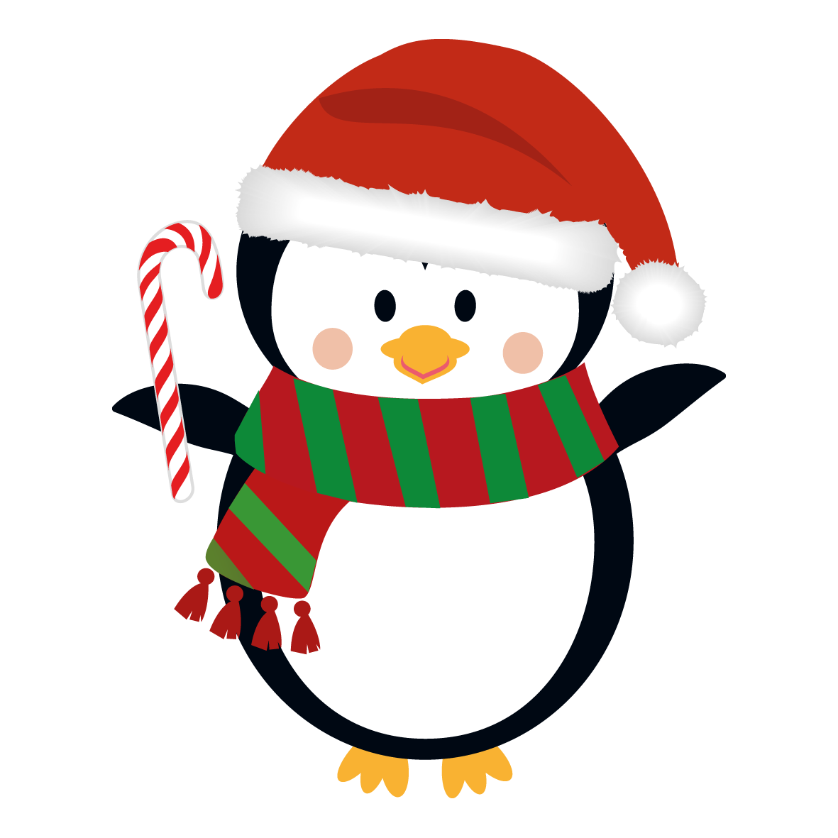 Christmas penguin clipart clipart suggest for Cool christmas art