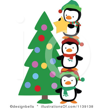 Penguin Clipart Black And White Royalty Free Christmas Penguin Clipart
