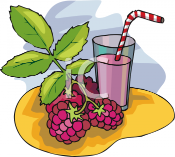 Raspberry Smoothie Clipart Image   Foodclipart Com