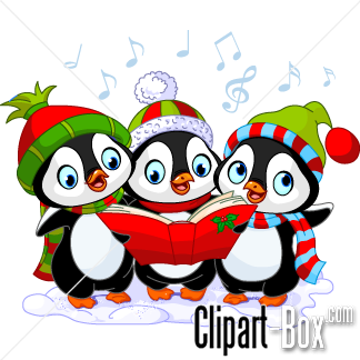 Related Penguin Christmas Choral Cliparts