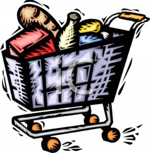 Full Grocery Cart Clipart Shopping Cart W...