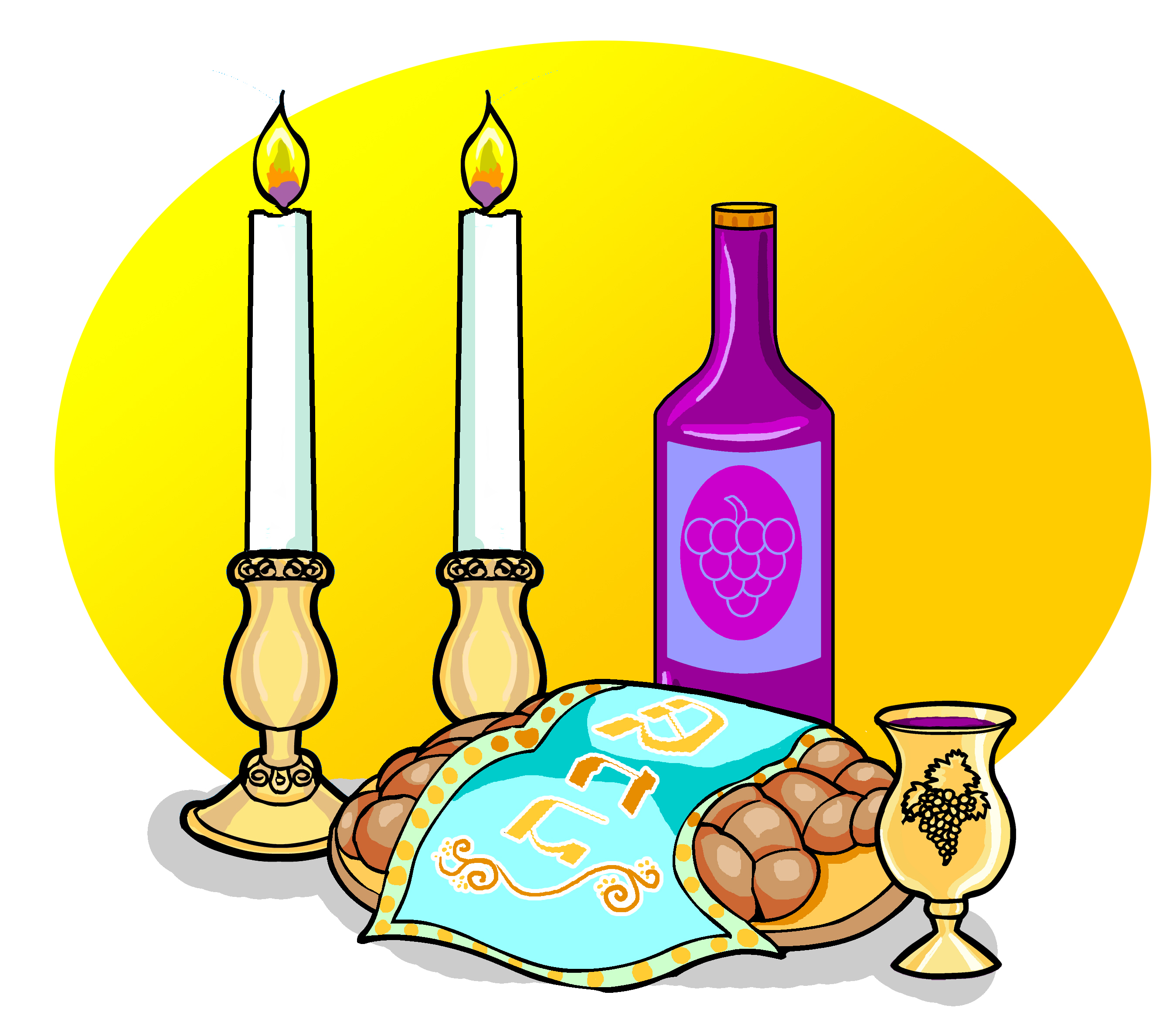Shabbat Candles Clipart Shabbat - 1730.7KB