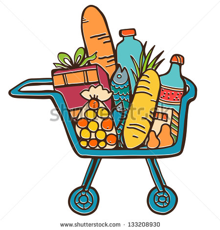 shopping cart with food clipart clipart suggest woman grocery shopping clipart woman grocery shopping clipart