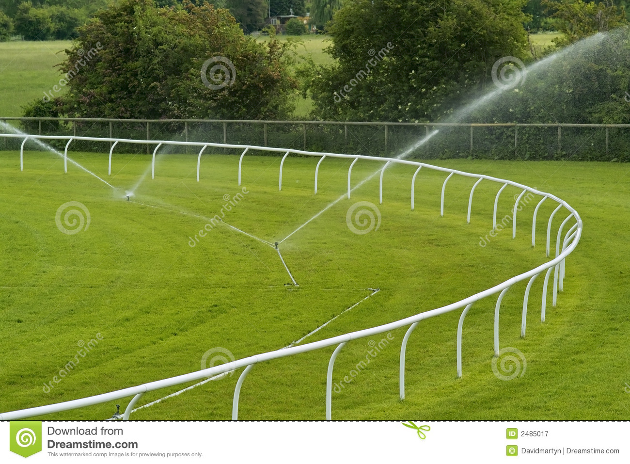 Sprinklers On Racecourse Royalty Free Stock Photography   Image
