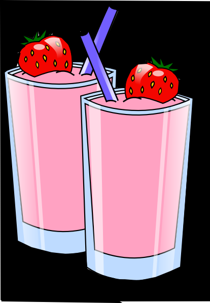 Strawberry Smoothie Clip Art At Clker Com   Vector Clip Art Online