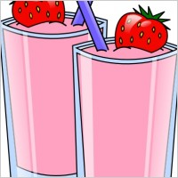Strawberry Smoothie Clipart