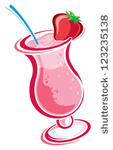 Strawberry Smoothie Drink Beverage Cups Clip Art Clip Arts Clip Art